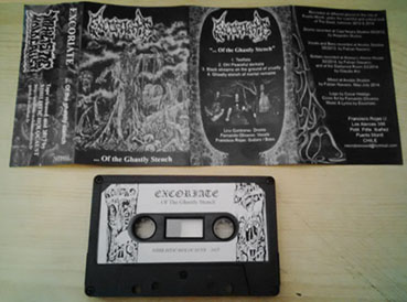 EXCORIATE (Chile) ... Of the ghastly stench Tape out now! Excoriate_phto_ok