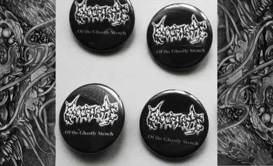 EXCORIATE (Chile) ... Of the ghastly stench Tape out now! Excoriate_badges