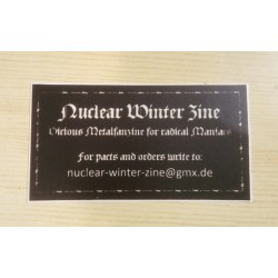 NUCLEAR WINTER Zine - Sticker