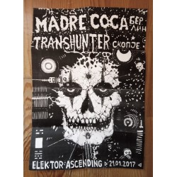 MADRE COCA/ TRANSHUNTER Gig flyer